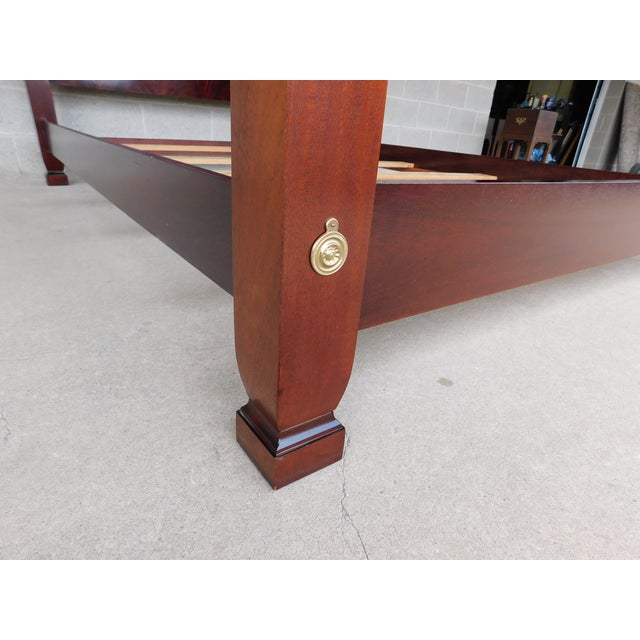 Thomasville Mahogany Collection Queen Size Chippendale Style Poster Bed For Sale - Image 10 of 12