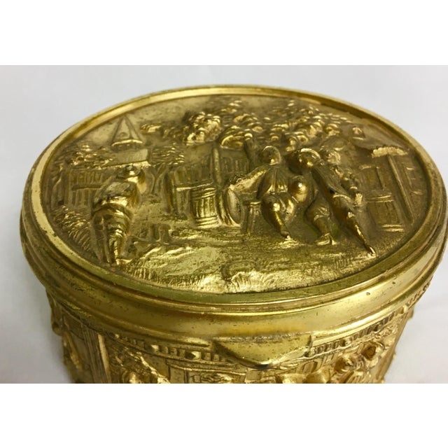 French 1900s French Gilded Ring Box For Sale - Image 3 of 9