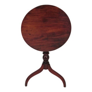 Antique Mahogany Tip Top Table For Sale
