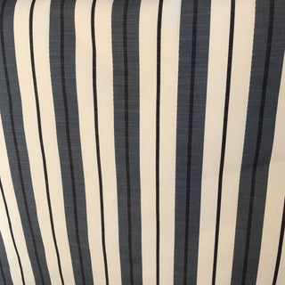 Designer White and Blue Fabric- 3 Yards For Sale
