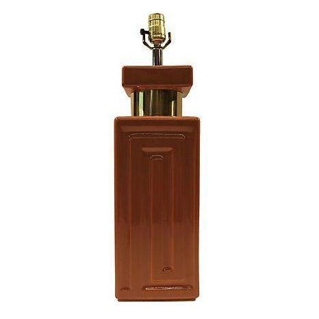 Copper & Gold Geometric Lamp - Image 1 of 5