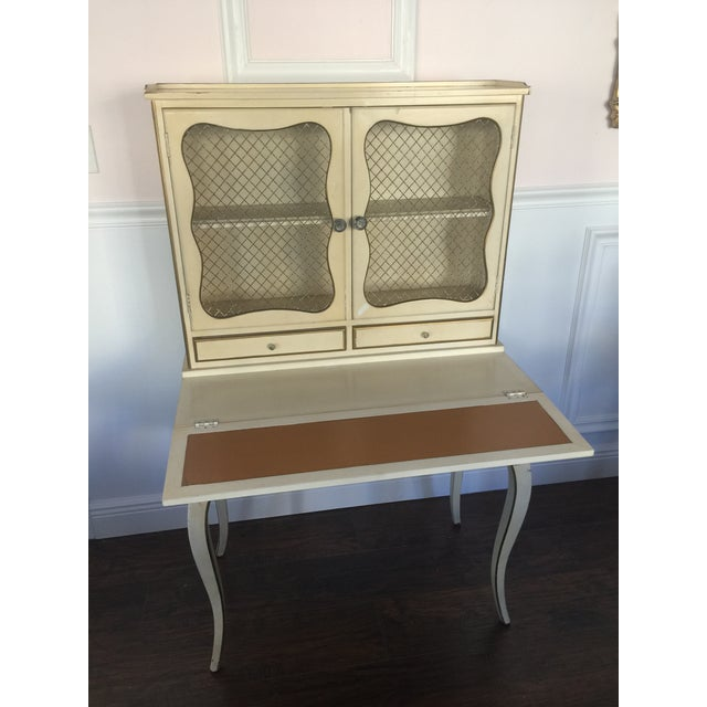 French Provincial Secretary Desk With Mesh Doors - Image 6 of 11