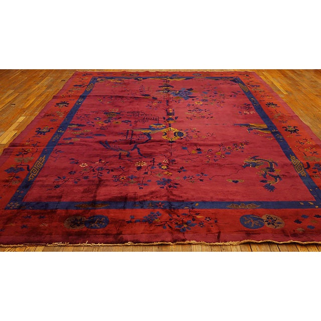 """Chinese - Art Deco rug. Measures: 9'8"""" x 13'2""""."""