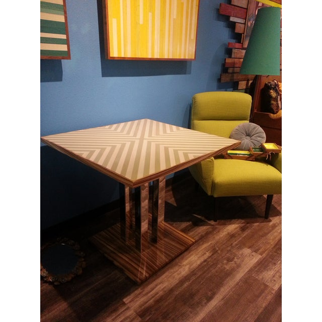 Gold Chevron Dining Table - Image 3 of 4