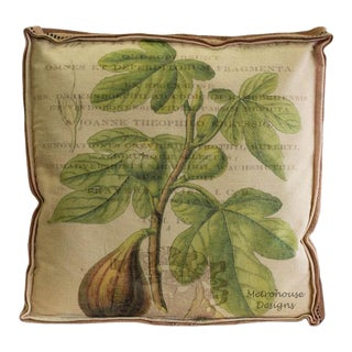 Farmhouse Inspired Multi Layered Turkey Fig Box Pillow For Sale