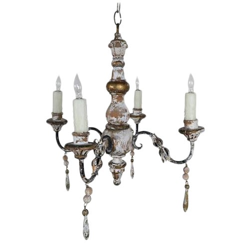 1930s Italian 4-Light Chandelier - Image 1 of 7