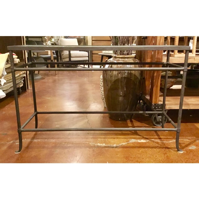 Currey & Co. Aquarius Console Table Pair Available - Image 3 of 10