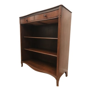 1940s American Classical Maddox of Jamestown Mahogany Bookcase