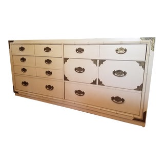 Huntley by Thomasville 6 Drawer Faux Bamboo Dresser For Sale