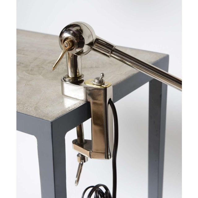 1940s Architectural Clamp Lamp For Sale - Image 9 of 10