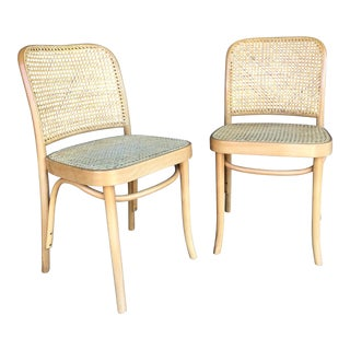 "Vintage Bentwood ""Prague"" Thonet Style Chairs - a Pair For Sale"