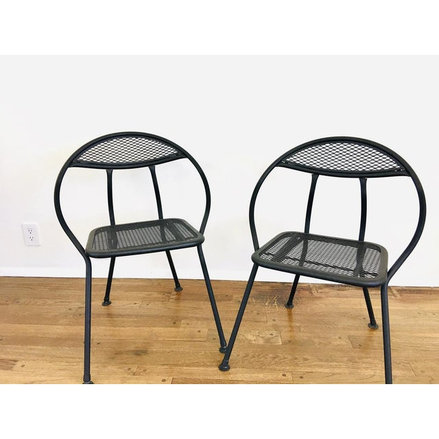 Black 1960s Mid Century Modern Rid-Jid Folding Patio Table & 6 Chairs Set, 7 Pieces For Sale - Image 8 of 11