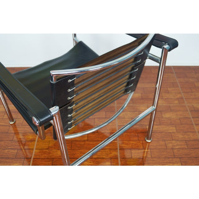 Vintage Leather & Chrome Chair - Image 6 of 7