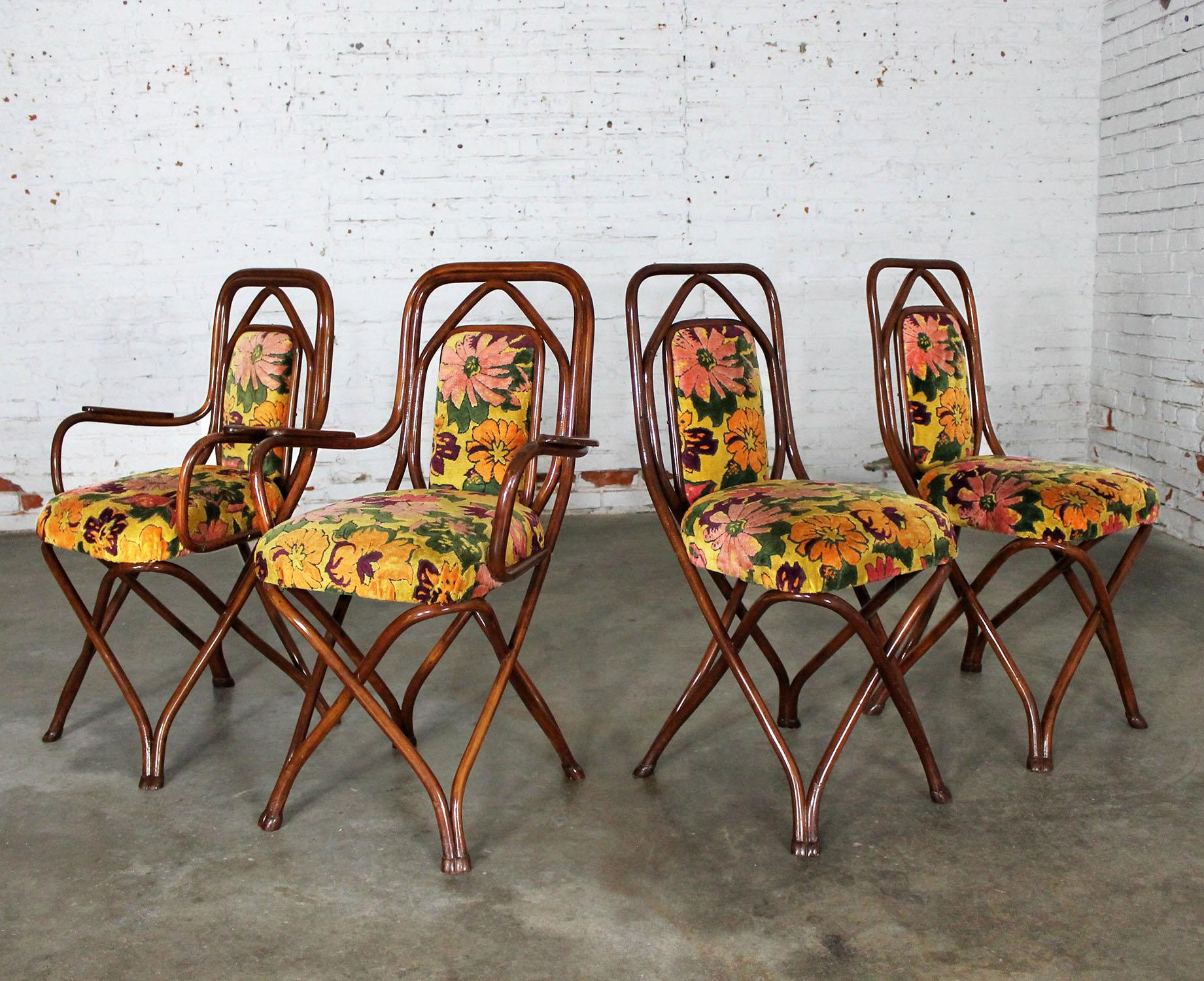 Antique Gebruder Thonet Bentwood Chairs   Set Of 4   Image 3 Of 11