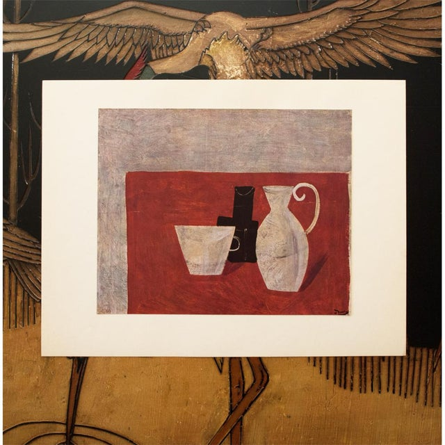 """Red 1947 André Derain Original Period """"Still Life"""" Lithograph For Sale - Image 8 of 8"""