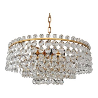 Cut Crystal Chandelier by Bakalowits, 1968 For Sale