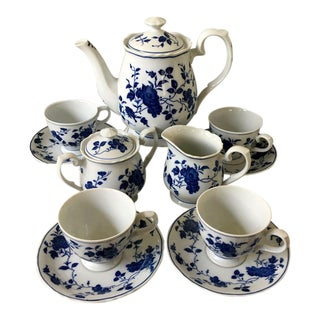 Royal Meissen China Japan Coffee Service - 13 Pieces For Sale