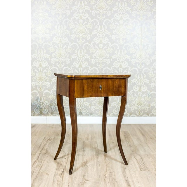 Biedermeier Sewing Table, a Classic of the Style, circa 1860 For Sale - Image 4 of 11