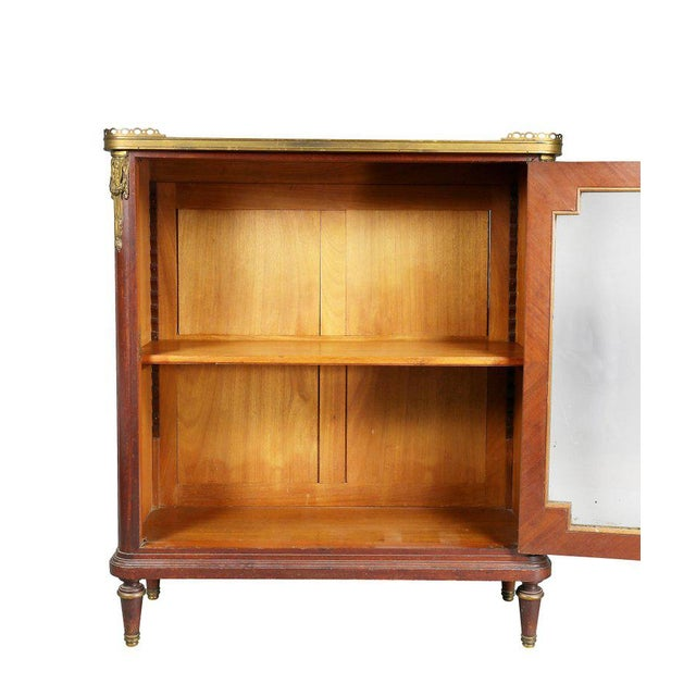Louis XVI Louis XVI Style Tulipwood and Ormolu-Mounted Petit Cabinet For Sale - Image 3 of 10