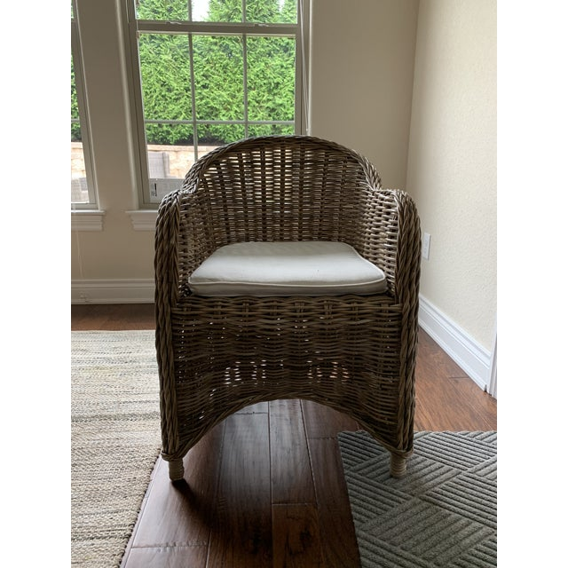 Rattan Valencia Dining Chairs - Set of 4 For Sale - Image 11 of 12