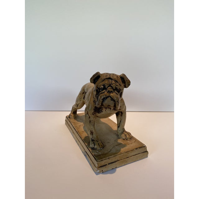 American Ceramic Bulldog Statue or Bookend Made in Japan For Sale - Image 3 of 6
