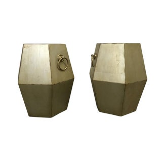Geometric Side Tables - a Pair For Sale