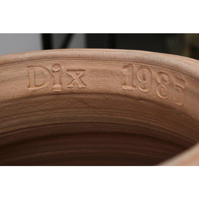 Mediterranean Artisan Earthen Ware Amphora Form Vases by DIX, circa 1985 - a pair For Sale - Image 3 of 10