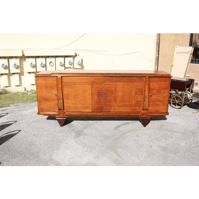 Jules Leleu Master Piece French Art Deco Sideboard / Buffet Rosewood By Jules Leleu Circa 1940s For Sale - Image 4 of 11