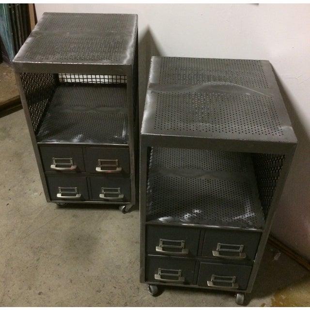 Repurposed Metal Industrial Tables - Pair - Image 7 of 7