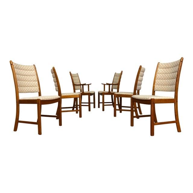 Johannes Andersen for Uldum Vintage Teak Dining Chairs - Set of 6 For Sale