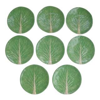 "8 Dodie Thayer Cabbageware Lettuce Leaf 10"" Dinner Plates For Sale"