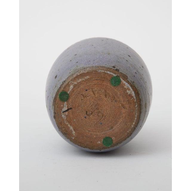Mid-Century Modern Ceramic Bottleneck Vase - Image 3 of 3