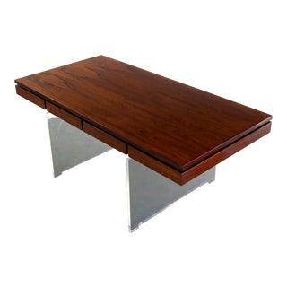 Danish Rosewood Desk by Poul Norreklit for Sigurd Hansen, 1960s For Sale