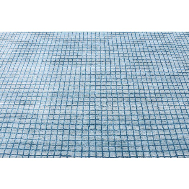 Textile Contemporary Beach Style Area Rug - 8′1″ × 9′10″ For Sale - Image 7 of 10