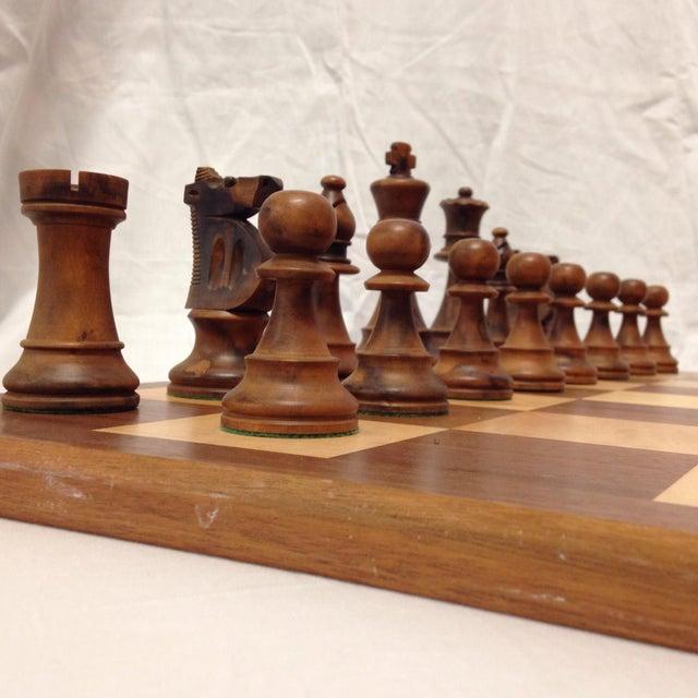 Lodge Vintage Drueke & Sons Chess Set in Walnut For Sale - Image 3 of 8