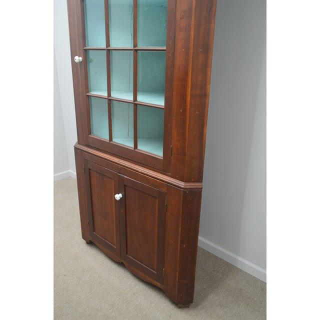19th Century Antique Pine China Cabinet For Sale - Image 10 of 12
