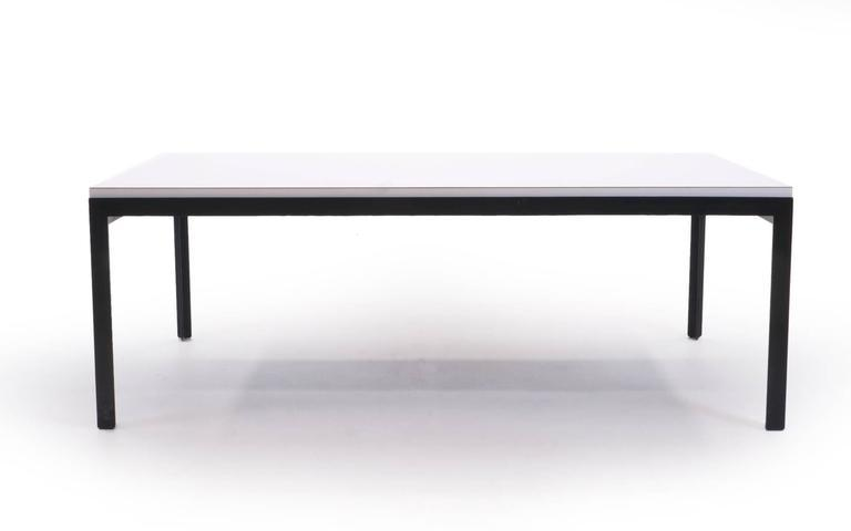 Exquisite Florence Knoll Coffee Table White Laminate Black Steel