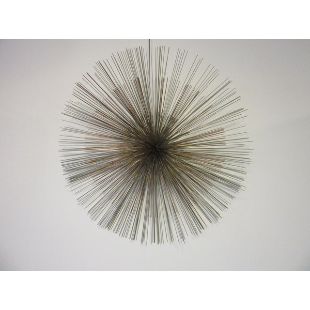 Gold Curtis Jere Metal Starburst Wall Sculpture For Sale - Image 8 of 8