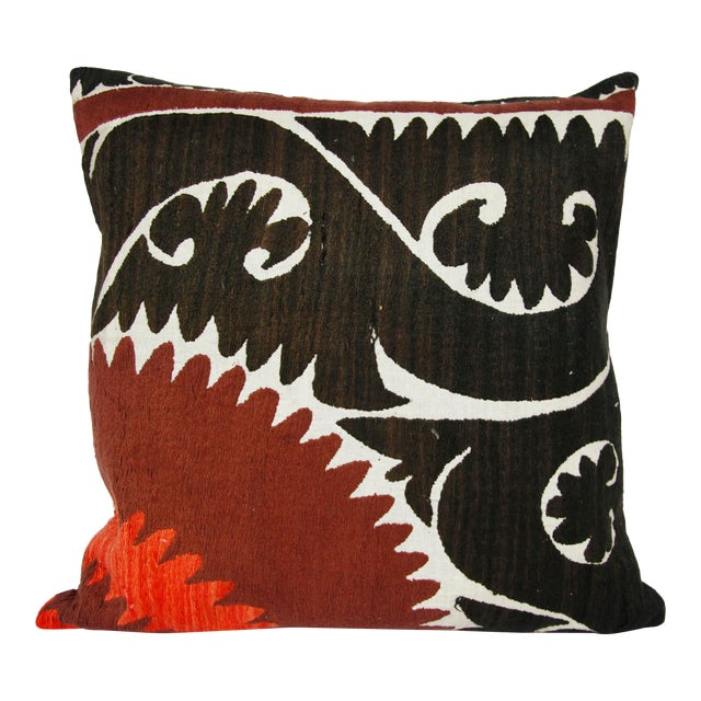 Handwoven Suzani Pillow Cover For Sale