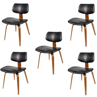 1950s Vintage Thonet Bentwood Chairs- Set of 5 For Sale