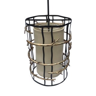 Modern Cage Pendant Light with Gold Branches by Troy Lighting For Sale
