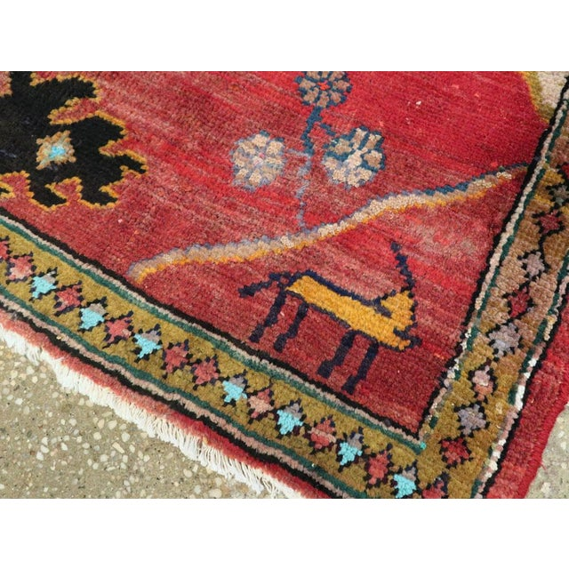 "Cotton Vintage Persian Mahal Rug – Size: 2' 9"" X 2' 11 For Sale - Image 7 of 10"