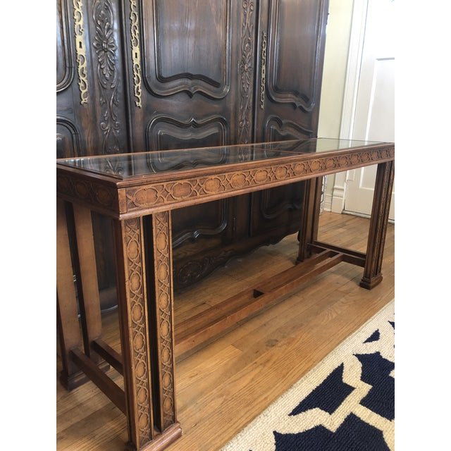 1960s Vintage Chinoiserie Henredon Console Table For Sale - Image 5 of 7