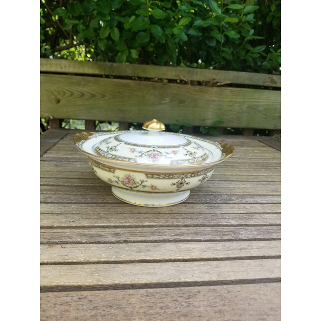 Art Deco 1910s Limoges Uc Lidded Serving Bowl For Sale - Image 3 of 10