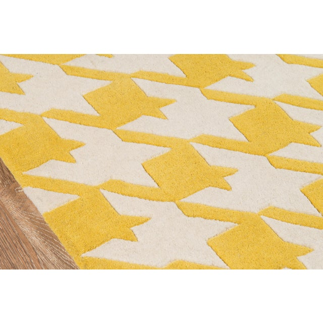 Contemporary Contemporary Momeni Delhi Hand Tufted Yellow Wool Area Rug 5' X 8' For Sale - Image 3 of 6
