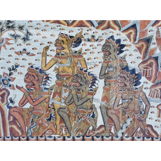 Burmese Painted Mythical Mural For Sale - Image 4 of 10