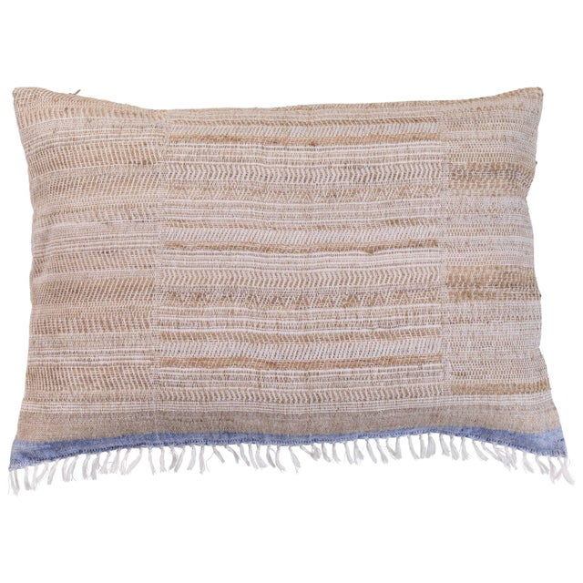 Indian Handwoven Pillow Hand Variation Arrow For Sale - Image 4 of 4