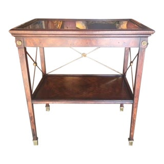 Drinks Cart Tea Table With Removable Tray Top For Sale