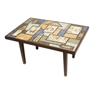 David Holleman Ceramic Mosaic Table For Sale