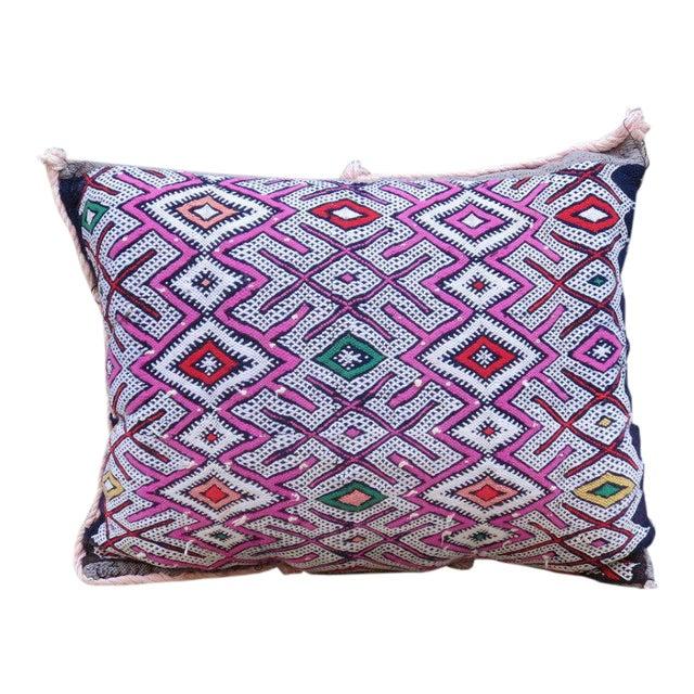 Moroccan Berber Wool Pillow For Sale